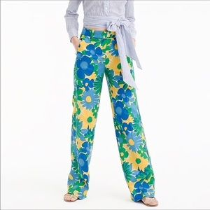 J Crew Morning floral pants